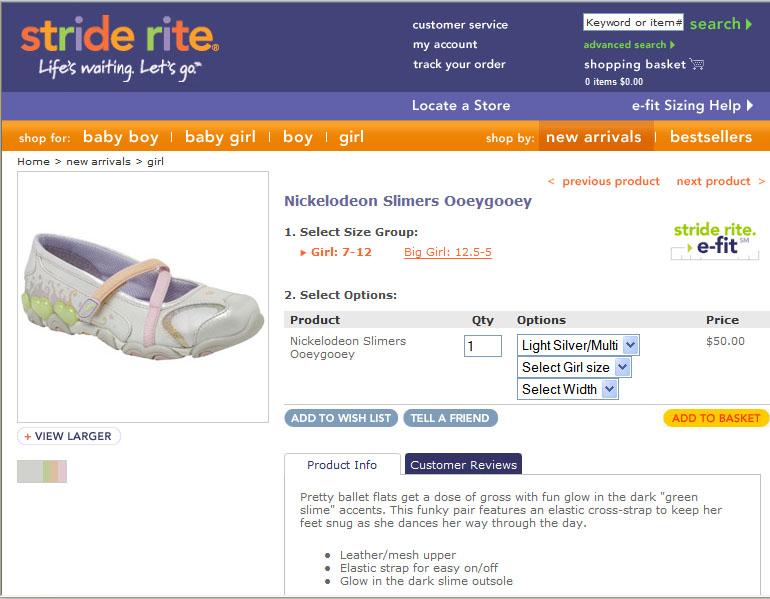 Stride Rite Slimers Product Description