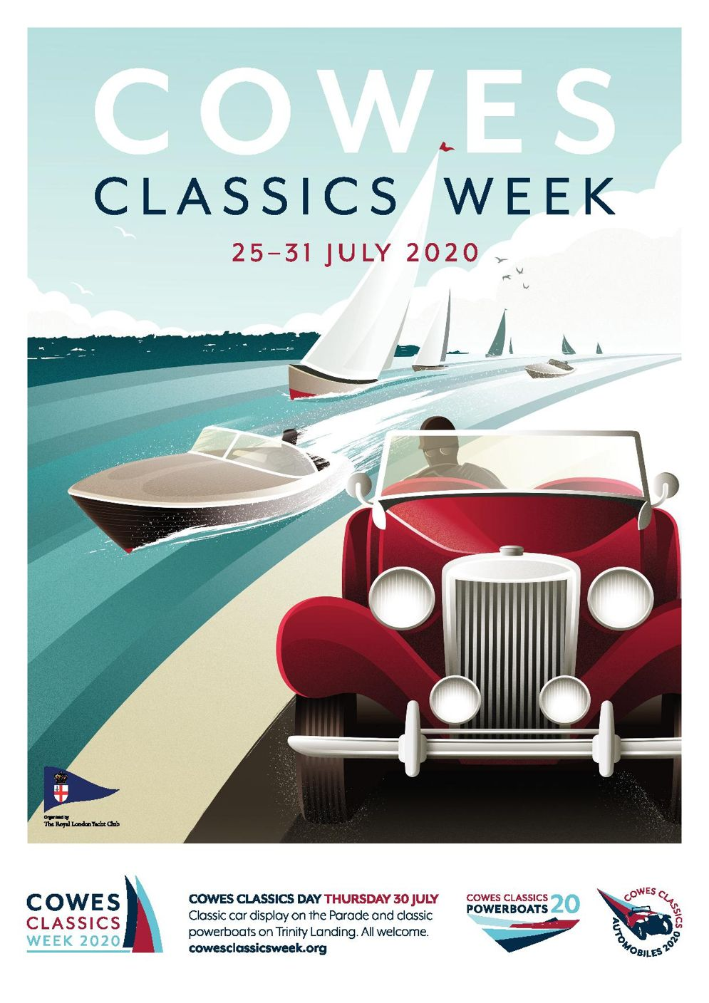 cowes classic week official clothing partner poster
