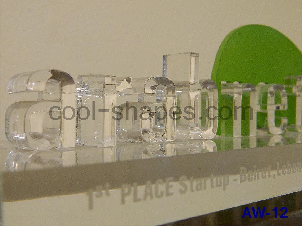 arabnet festival acrylic award, SAUDI ARABIA competition awards