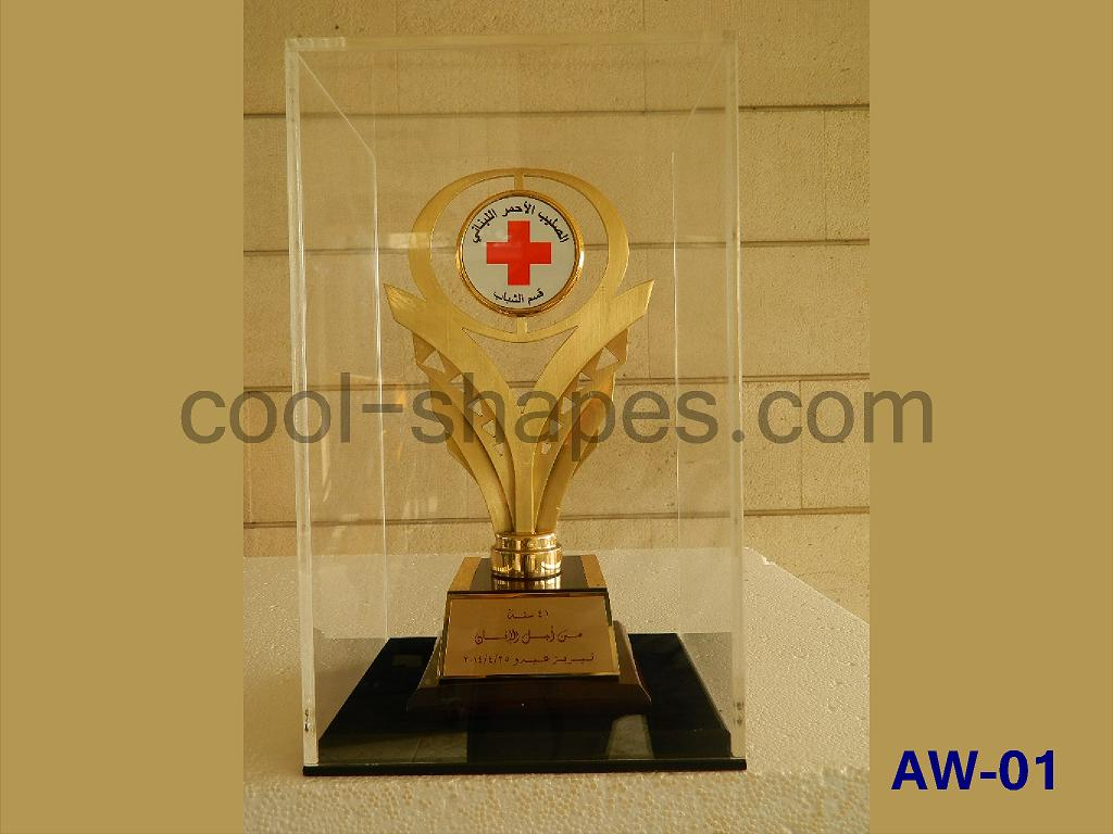 brass award RED CROSS gift item, awards SAUDI ARABIA
