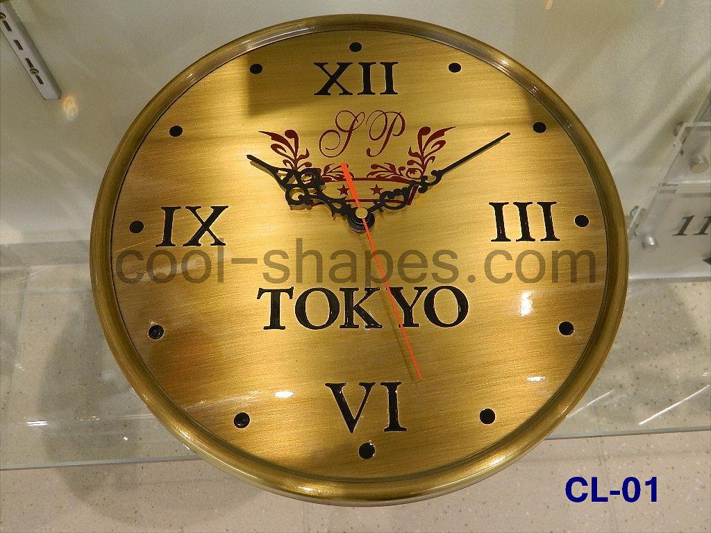 reception clock hotel clock brass engraved customized, clock KSA