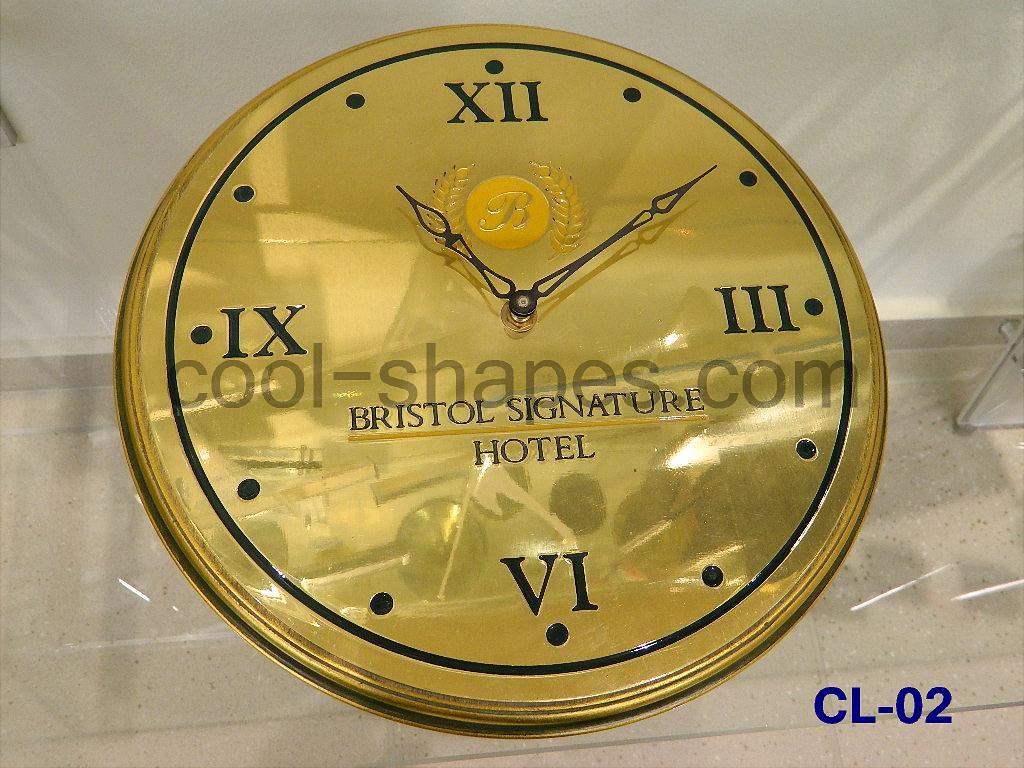 reception clock hotel clock brass engraved customized, clock Saudi arabia