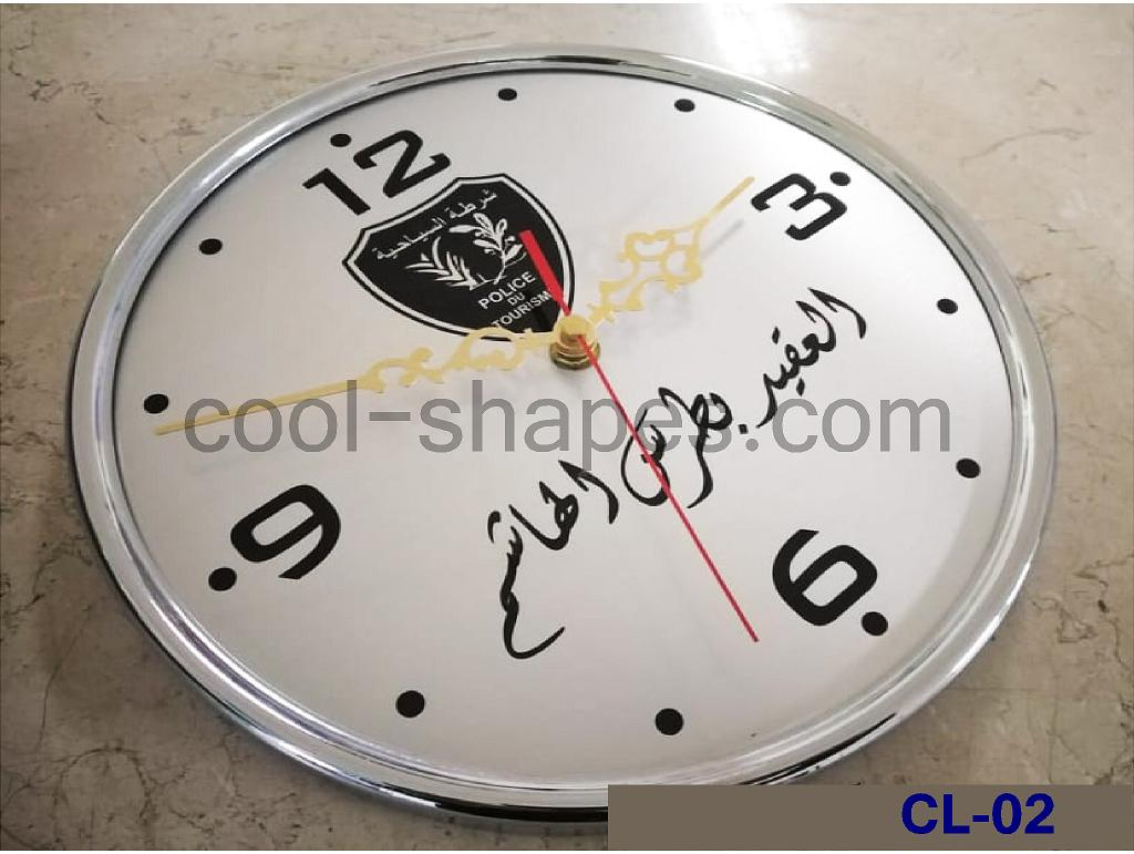 reception clock hotel clock brass engraved customized, wall clock KSA