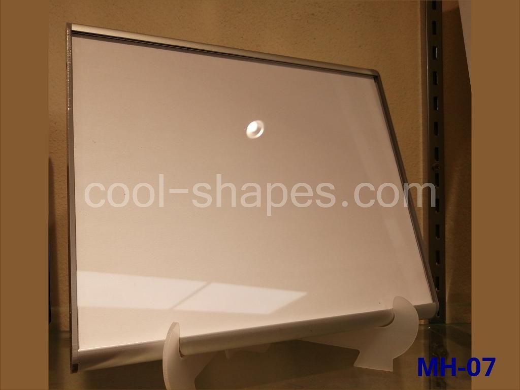 aluminum frame plexiglas face menu holder, display menu KSA