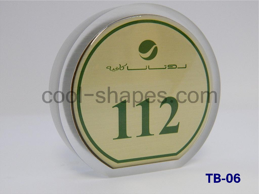 restaurants table number rotana cafe customized silver plated, ROTANA table number