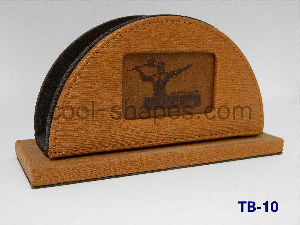 customized table number leather table number napkin holder