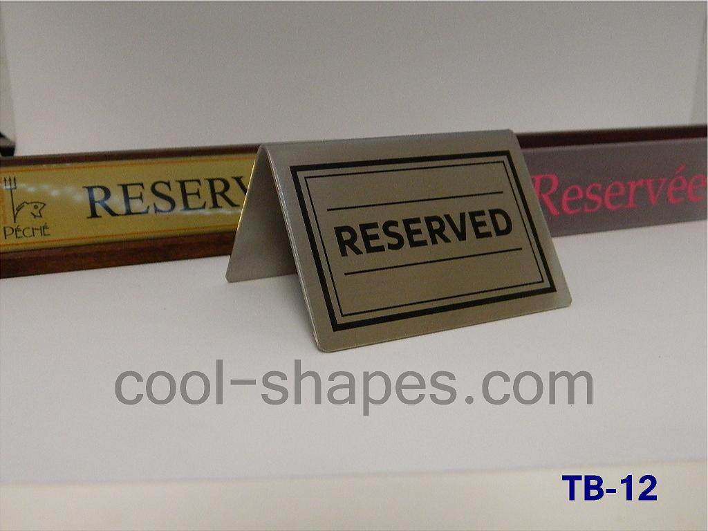 reserved table sign stainless steel restaurant hotels gallery plexiglas acrylic