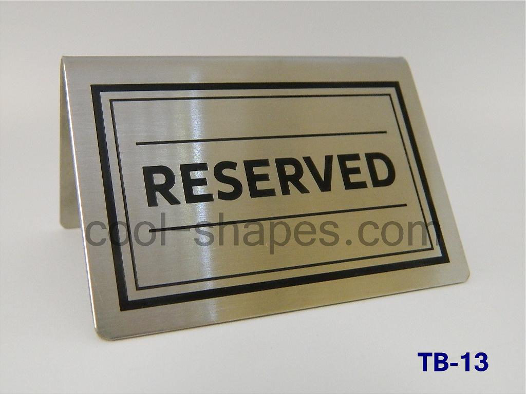 stainless steel sign engraved sign reserved sign KSA