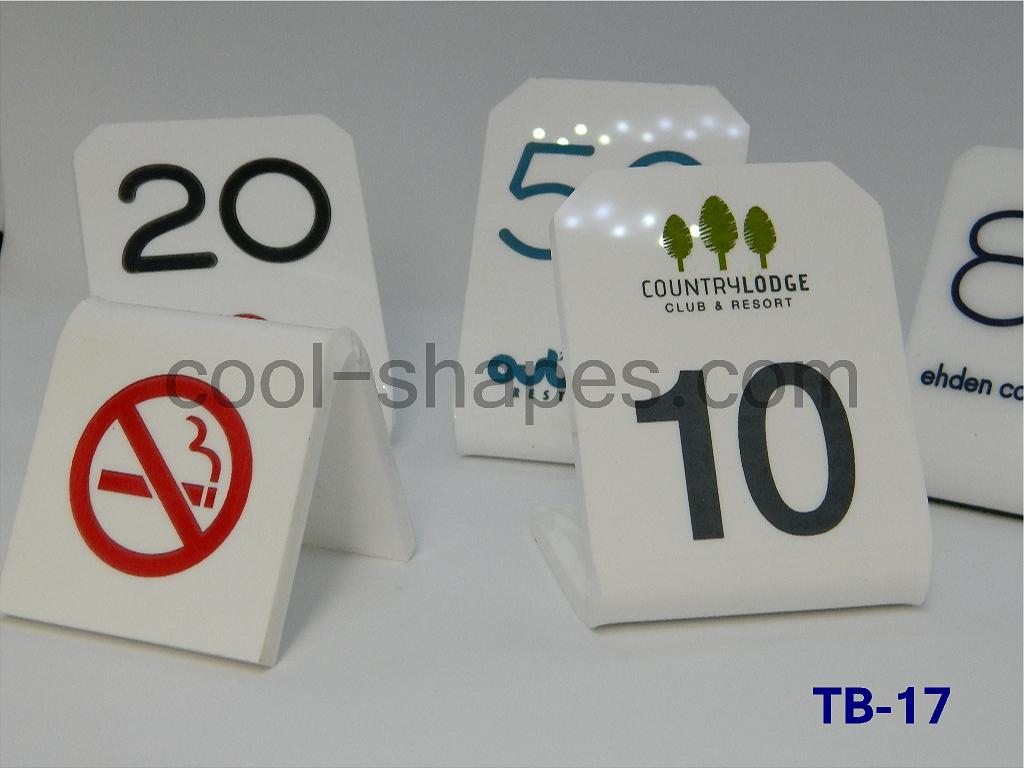 acrylic table number restaurant engraved text customized, table number SAUDI ARABIA
