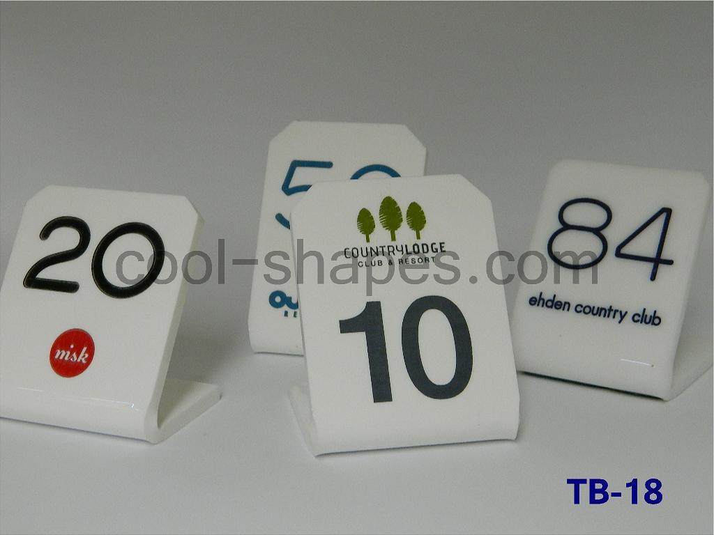 plexiglas table numbers restaurant, Saudi Arabia sign