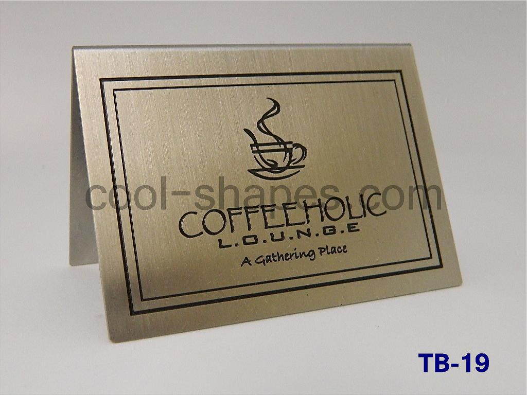 customized table number restaurants hotels stainless steel