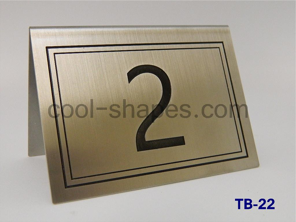 customized table number restaurant stainless steel engraved
