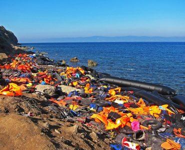 Lifejackets washed ashore