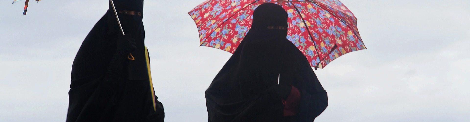 Burka på stranden.