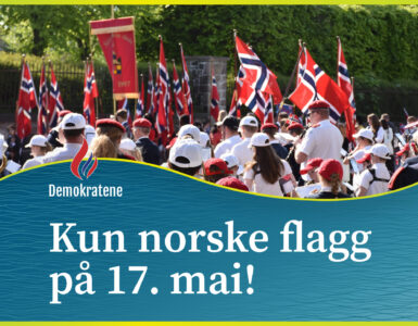 Kun norske flagg på 17. mai