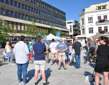 Stand i Sandefjord 6. august.
