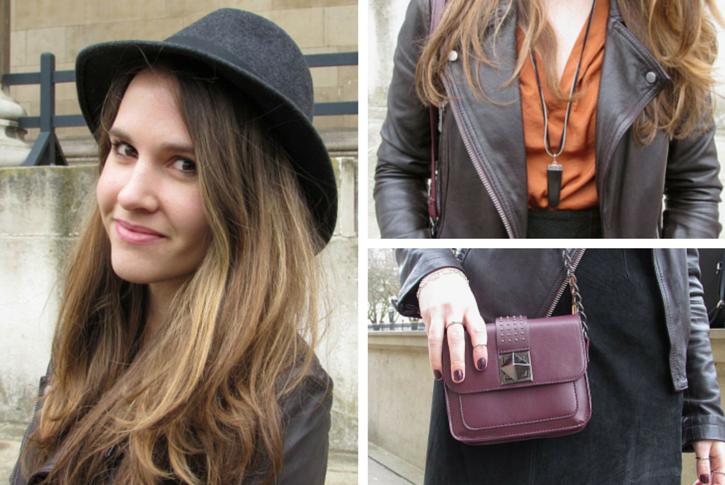 vintage hat and leather jacket