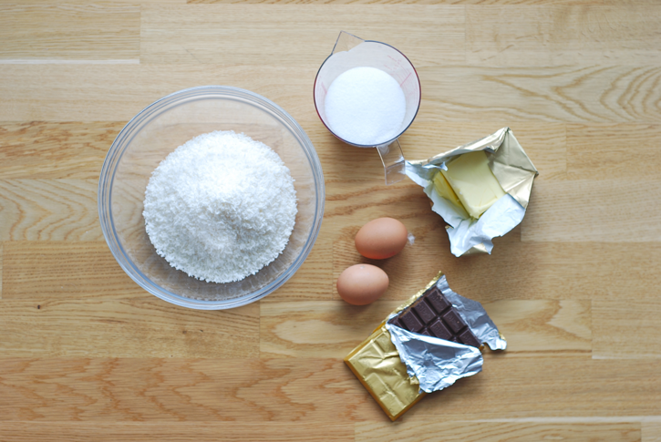 baking ingredients for coconut macaroons