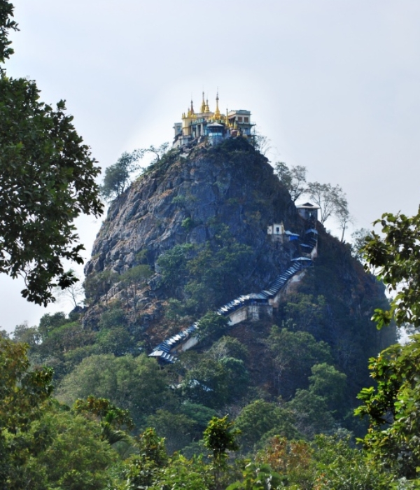 Climbing Mount Popa with the Monkeys