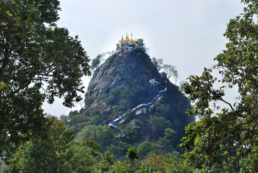 mount popa burma myanmar
