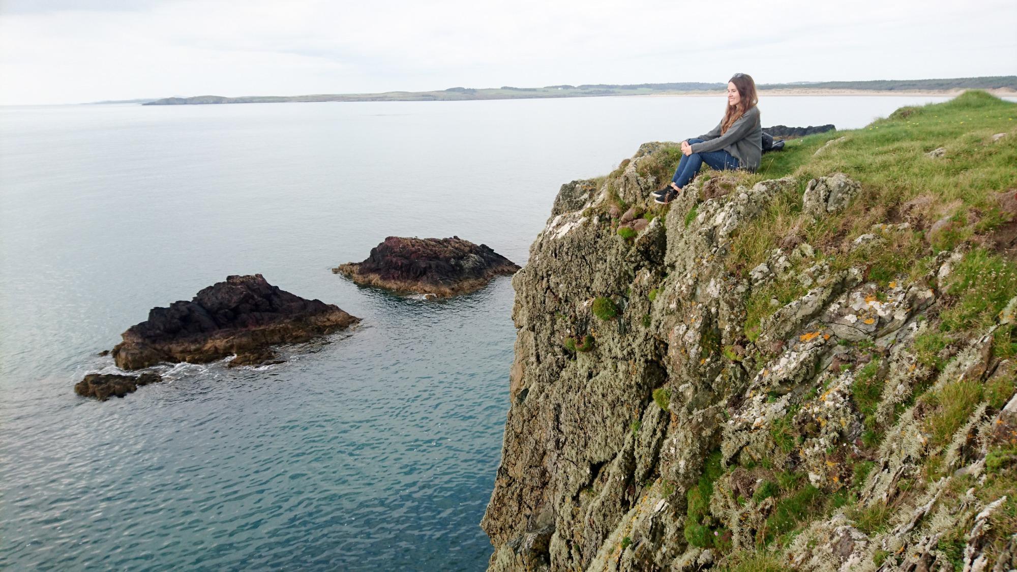 North Wales, llanddwyn island cliffs