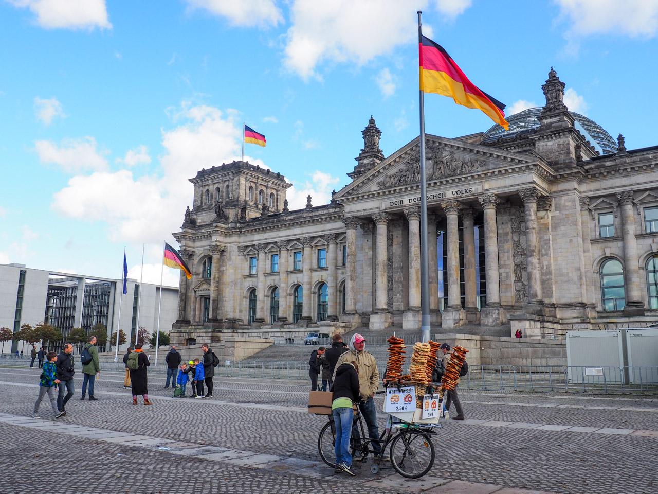 Reichstag and pretzels