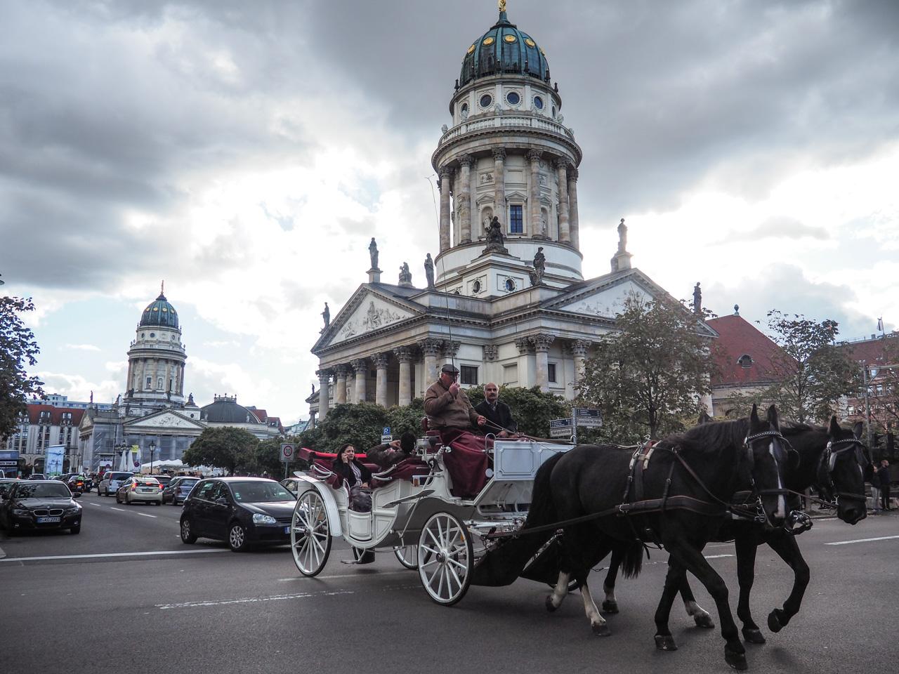 Gendarmenmarkt and horse