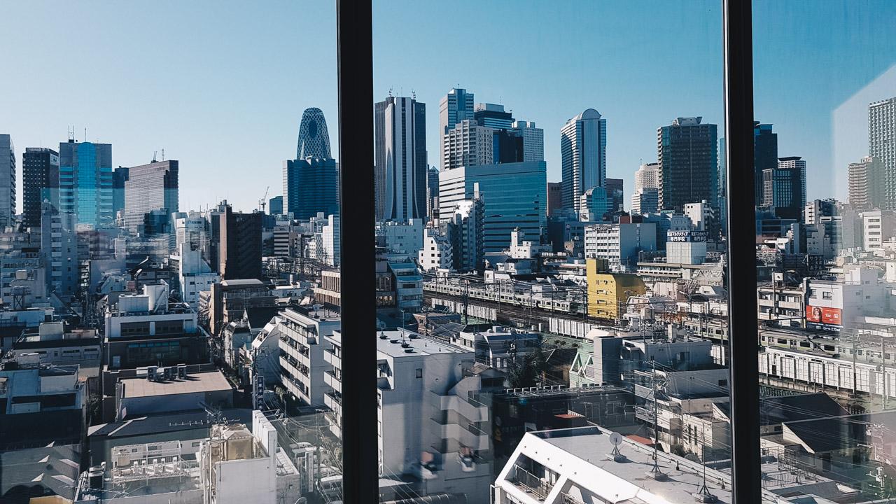 nine hours shinjuku view