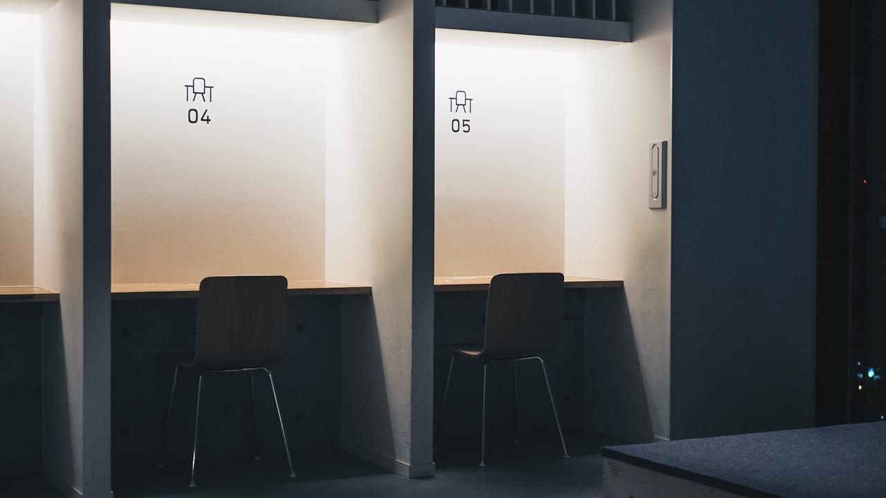 nine hours shinjuku desks