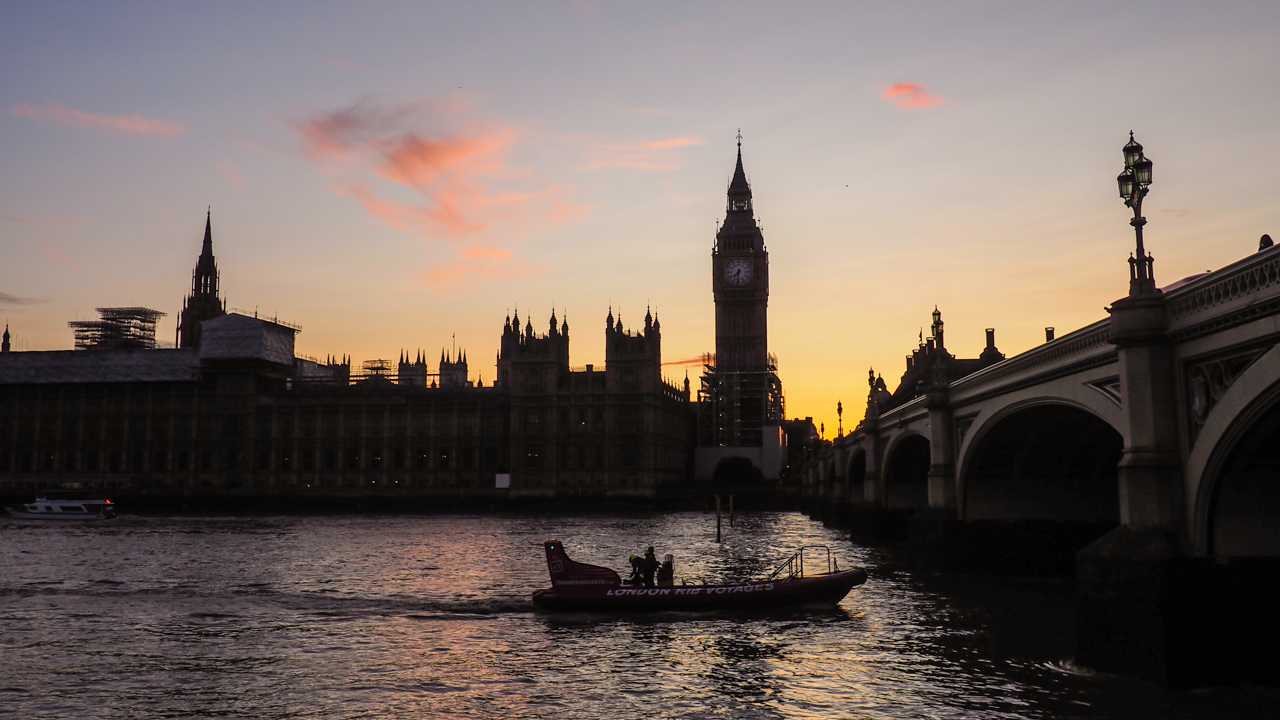 westminster sunset