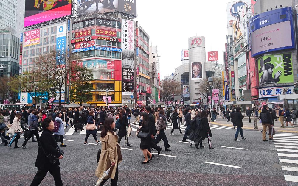 Tokyo's famous Shibuya crossing