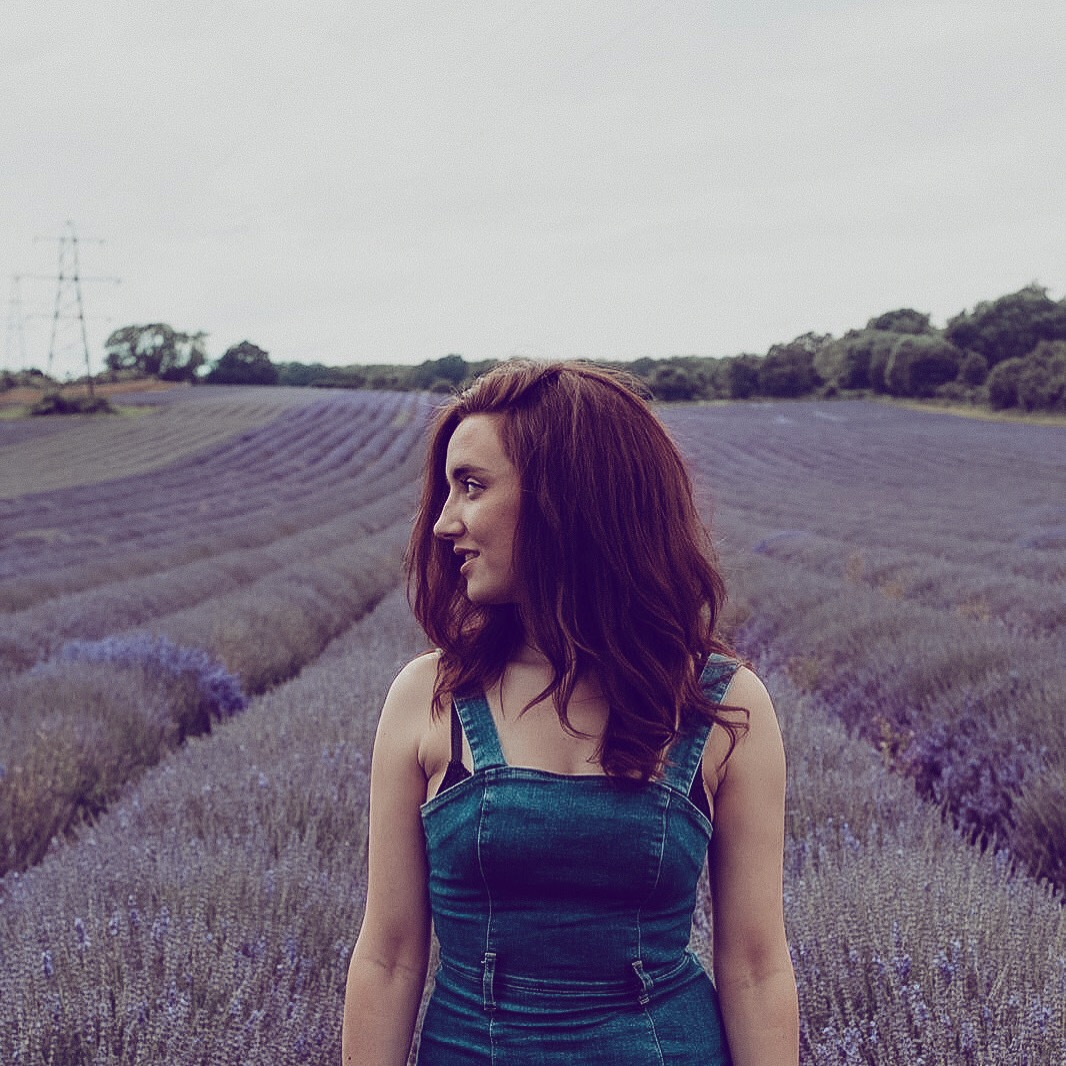 rebecca brennan-brown in lavender field