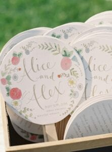 wedding favours paper fans