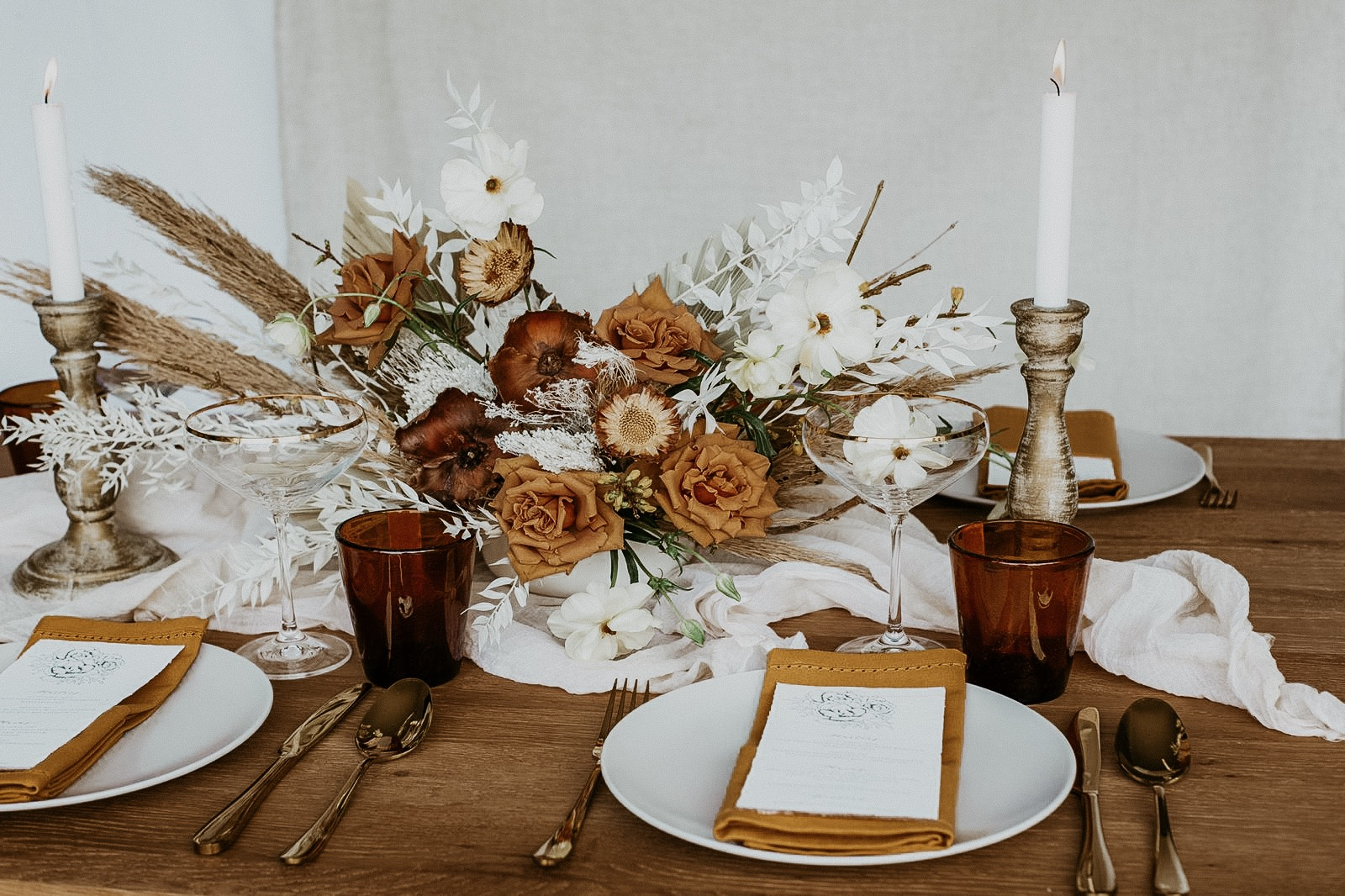 autumnal bridal table uk
