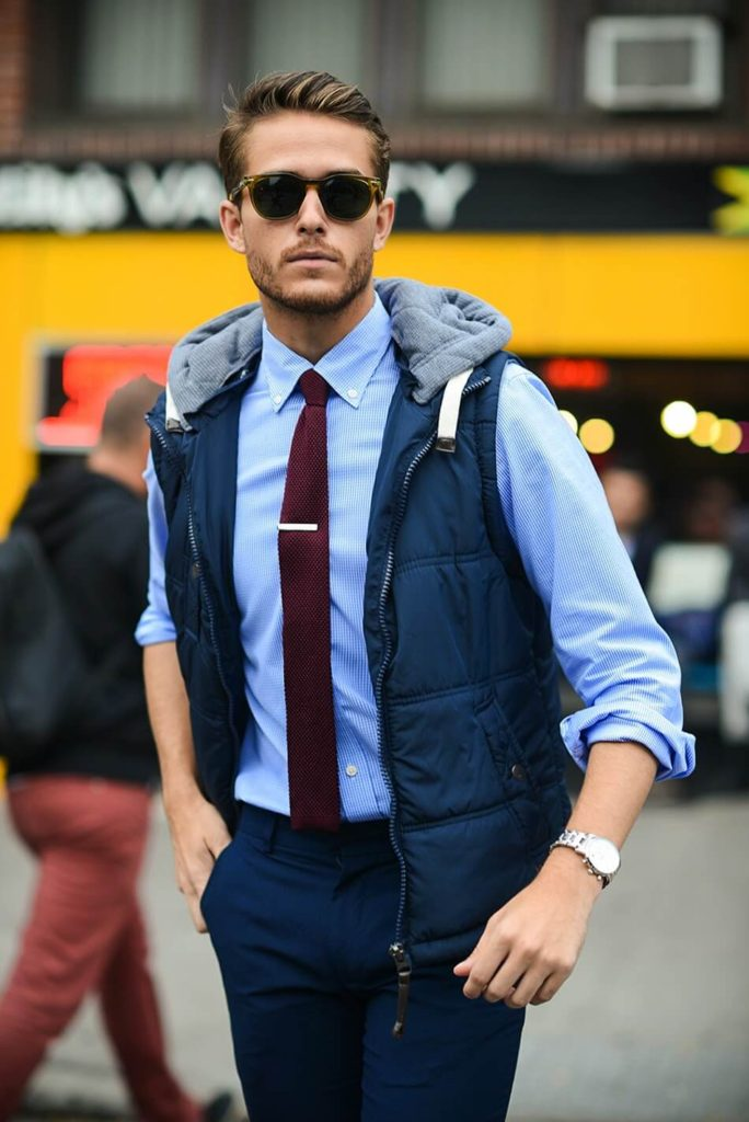rolled up sleeves - winter fashion hacks for men - Content Raj
