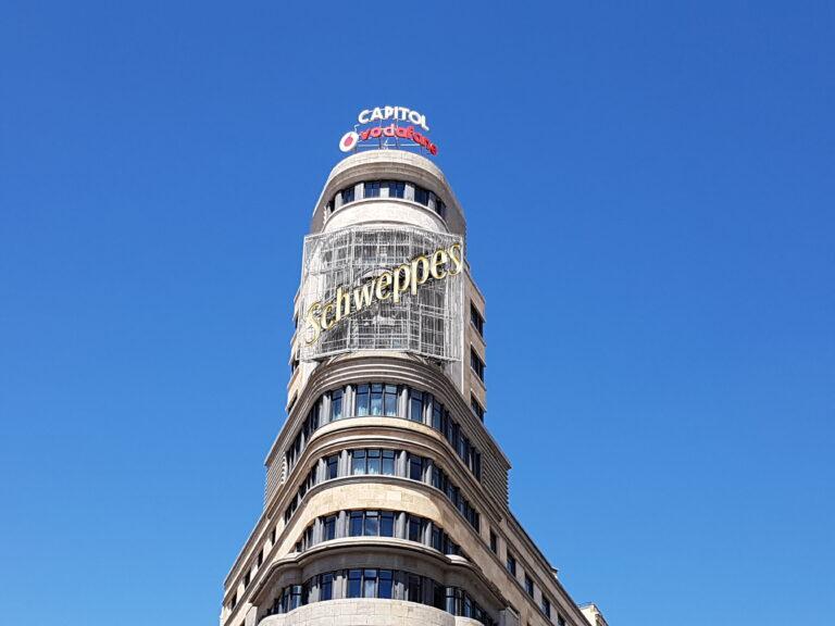 El Edificio Capitol en la Gran Vía Madrileña