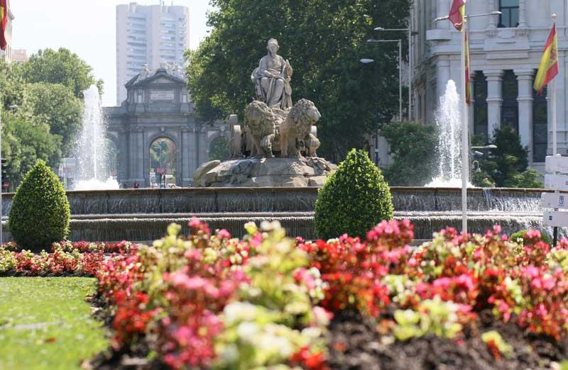 La plaza de Cibeles en Madrid