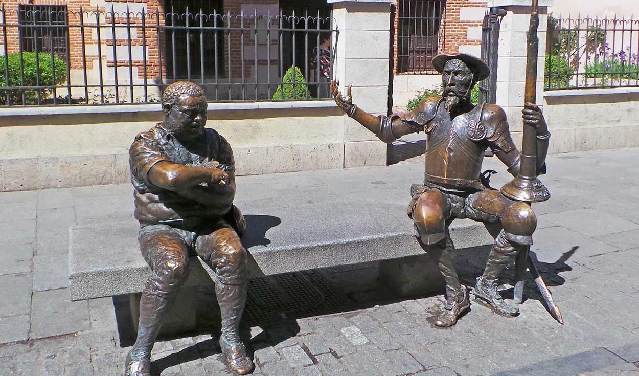Monumento Don Quijote y Sancho en Alcalá Henares