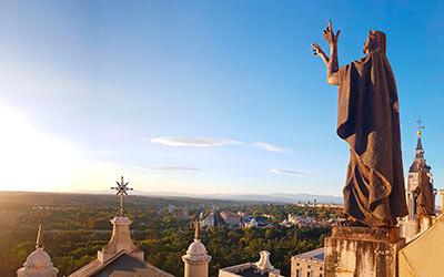 Panorámica desde la terraza de la Catedral de la Almudena