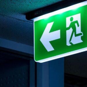 Emergency lighting signage