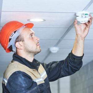 Fire detector servicing