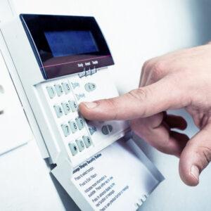 Intruder alarm keypad