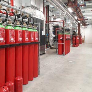 Gas fire suppression