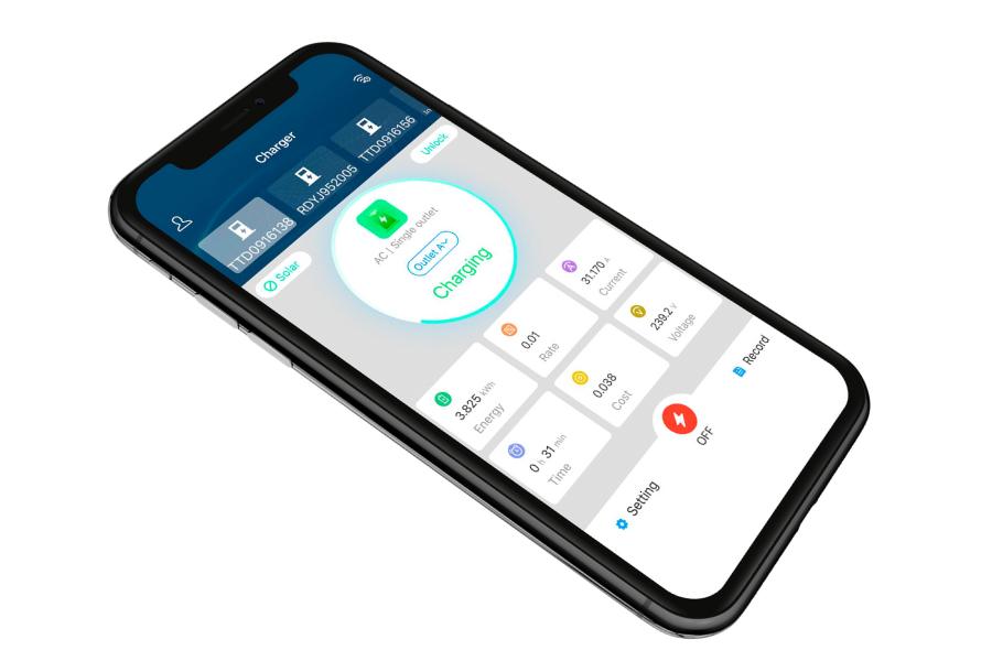 EV charging point smart app