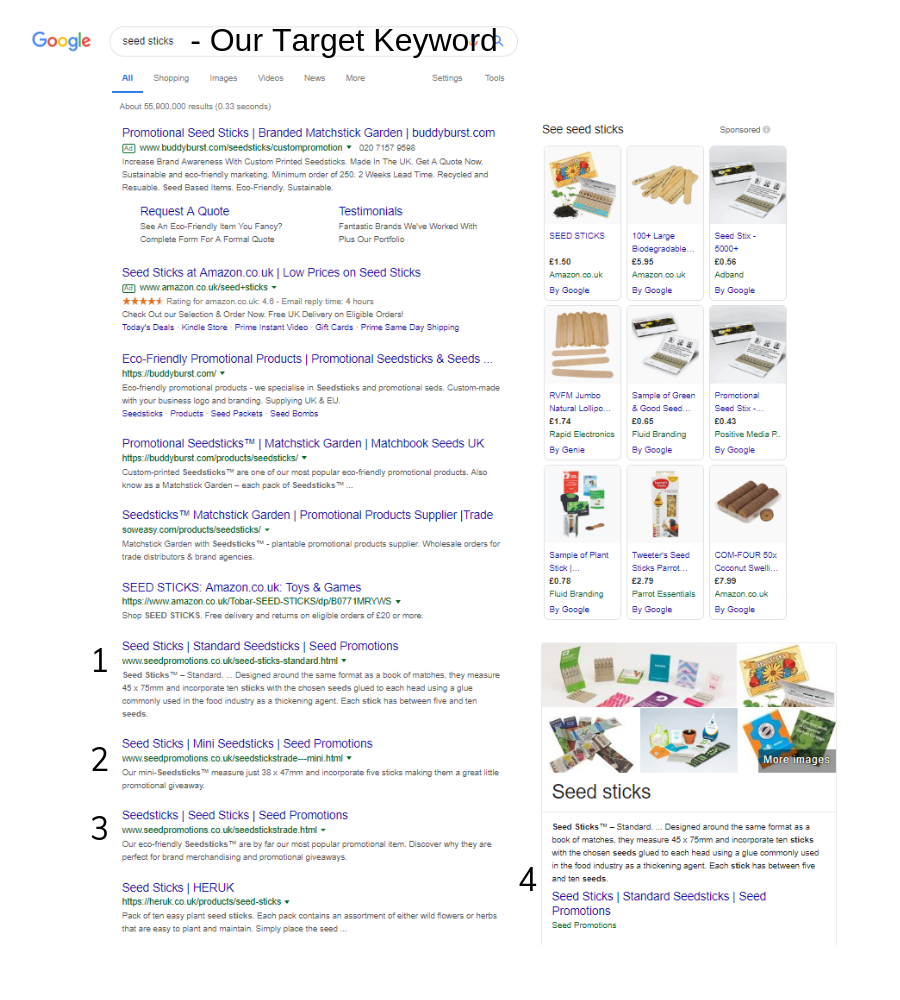 seed sticks google results