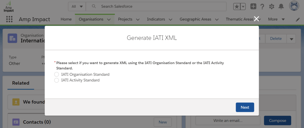 Amp Impact Is Bringing IATI Publishing to Salesforce