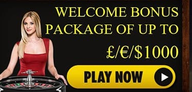 Up To £1000 Online Casino Welcome Bonus Package