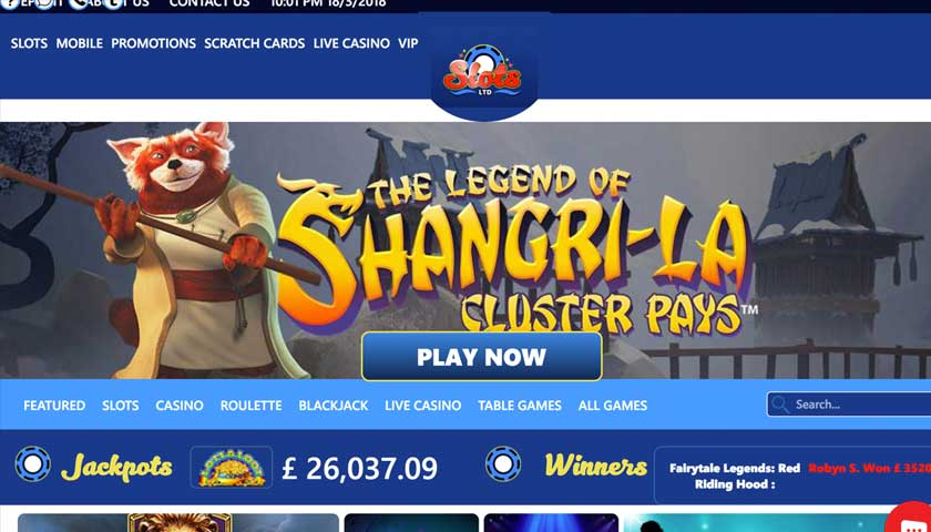 The Jackpots Keep On Growing at Slots Ltd