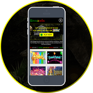 Play and Win by Mobile Phone at Spinzwin