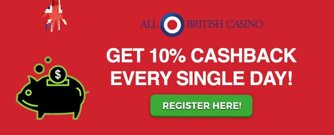 Get 10% Cashback On All Deposits Today